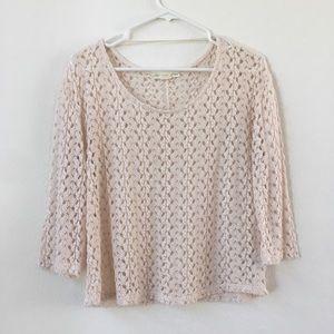 UO Staring at Stars cream knit sweater
